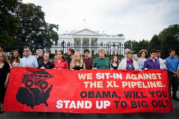 Protestors at the White House urge Obama to block KXL and it looks like he might be listening.