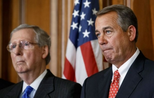 House Speaker John Boehner and Senate Majority Leader Mitch McConnell on Capitol Hill, February 10, 2015