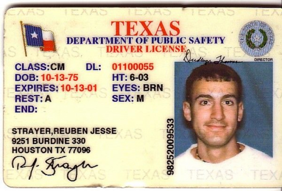 drivers license numbers texas