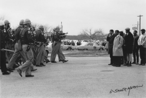 """Bloody Sunday,"" by Spider Martin, taken in Selma, Ala. on March 7, 1965."