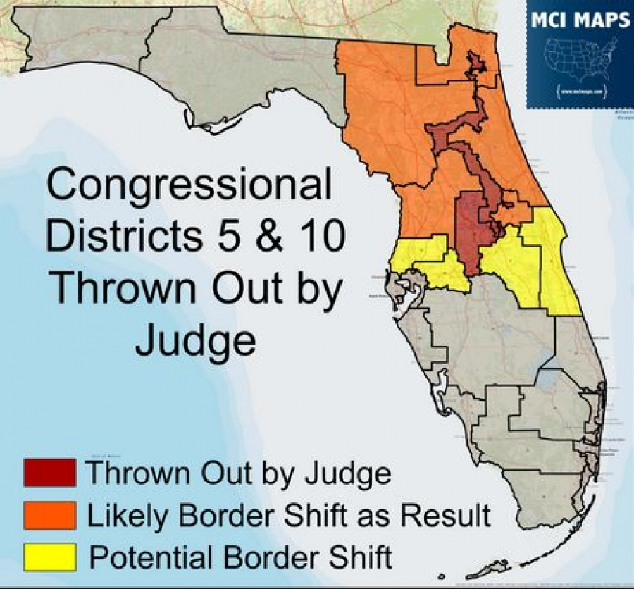 Florida Congressional Map.Florida Supreme Court Orders New Congressional Map With Eight