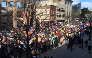 Marchers at the 10th annual HKonJ People's Assembly in Raleigh.