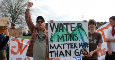 West Virginians protest fracking in their state.