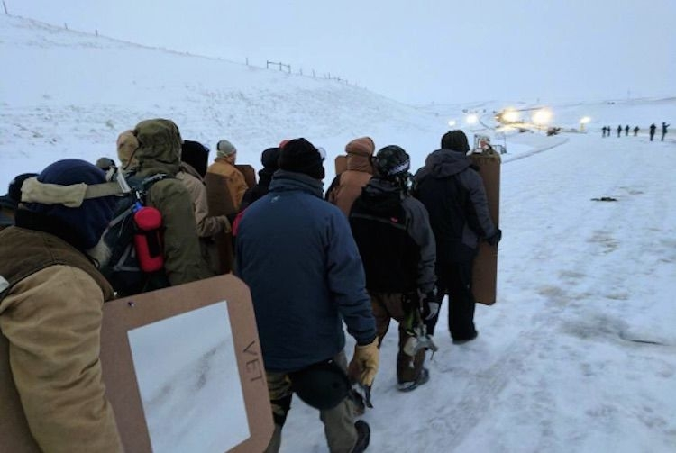 IVeterans Arrive at Standing Rock to Act as 'Human Shields' for Water Protectors